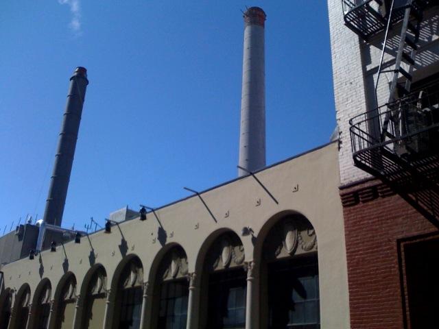 Buildings near Mint St